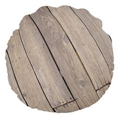 Rustic Wood Vintage Round Pillow