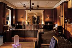 A rich interior sets the mood in the Caramel Room at the Berkeley hotel in London