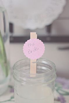 great way to mark your place setting and glass...err, mason jar :)
