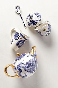 Jardin Des Plantes Tea Set - anthropologie.com