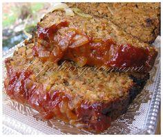 Le palais gourmand: Pain de viande,sauce barbecue et oignons caramélisés