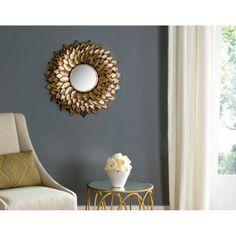 Safavieh Provence Sunburst Mirror, Gold