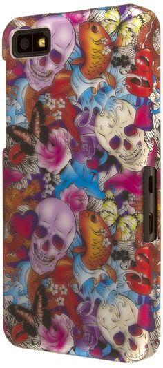 EMPIRE Signature Series Slim-Fit Case for Blackberry Z10 - Retail Packaging - Tattoo Chaos. Exclusive Designs and Patterns by Empire. Fashion Forward Inspired Soft Touch Design with 3D Accessory. Raised Edge Case Design and Inner Felt Lining to Protect Device. Sleek and Lightweight with No Added Bulk. Microfiber Cloth and Clear Screen Protector Included.