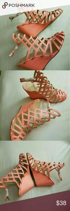 Charlotte Russe wedge sandal Super cute charlotte russe wedge in brand new condition. Charlotte Russe Shoes Wedges