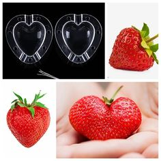 WHISM Cucumber Apple Strawberry Fruits Growth Forming Mold Star/Heart-shaped Plastic Transparent Growing Mould For Garden Bonsai Watermelon Fruit, Strawberry Fruit, Strawberries, Tomate San Marzano, Tomate Cocktail, Coleus, High Fiber Fruits, Baby Fruit, Celerie Rave