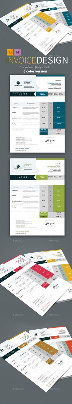 Invoice Font logo, Adobe illustrator and Fonts - create your own invoices