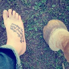 """May there always be a hoofprint beside my footprint.""-Brooke Kaczmarek- My Tattoo that I wrote the quote for! The reason I wrote this and got it done is because I graduated high school and wanted to prove horses will never leave my life. (Pic with Sue 38 years old, was put down last fall)♥ #horsetattoos"
