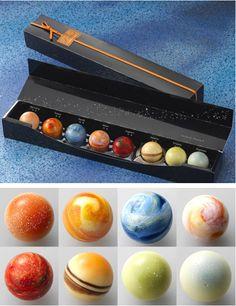 Gezekenler şeklinde çikolata...bunları yiyemez insan!