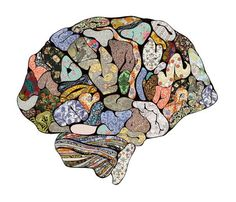 My Brain Looks Different- Art Print from society6...just thinking...the outline would be cool on a shoe!