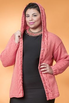 Naisen hupullinen neuletakki Novita Kaisla | Novita knits