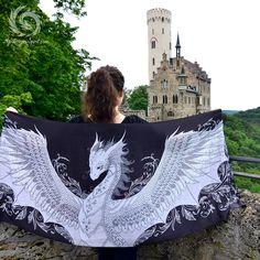 Dragon scarf by @Mydragonspirit www.mydragonspirit.com