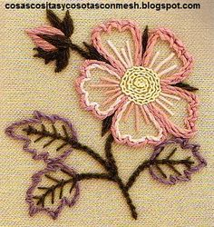 .linda flor Hand Embroidery Stitches, Diy Embroidery, Jacobean Embroidery, Hand Embroidery Designs, Embroidery Techniques, Cross Stitch Embroidery, Smocks, Cutwork, Embroidered Flowers