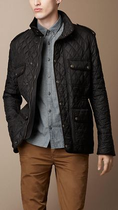 Burberry Brit Heritage Quilted Caban