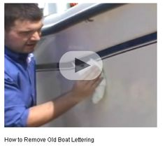 How to remove vinyl lettering #BoatUS