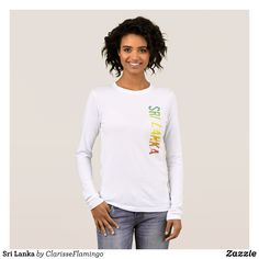 Sri Lanka Long Sleeve T-Shirt - Fashionable Women's Shirts By Creative Talented Graphic Designers - #shirts #tshirts #fashion #apparel #clothes #clothing #design #designer #fashiondesigner #style #trends #bargain #sale #shopping - Comfy casual and loose fitting long-sleeve heavyweight shirt is stylish and warm addition to anyone's wardrobe - This design is made from 6.0 oz pre-shrunk 100% cotton it wears well on anyone - The garment is double-needle stitched at the bottom and sleeve hems for…