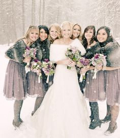 be2718dd72 Stylish spring options for your bridesmaid's cover-ups. Winter Wedding ...