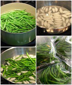 GreenThumbWhiteApron.com   How To Blanch Green Beans   How-To Tuesday!   http://www.greenthumbwhiteapron.com