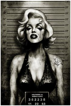 Monroe Mugshot by Marcus Jones Gangsta Tattoo Poster Fine Art Print – moodswingsonthenet