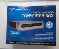 Winegard Converter Box RCDT09 DTV Converts Digital To Analog Watch Digital TV  #Winegard