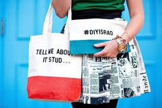 I Spy DIY: MY DIY | Quote Tote & Clutch