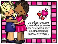 Tarjetas día del amor y de la amistad (5) Collector Cards, Happy Day, Bff, Diy And Crafts, Friendship, Positivity, Teacher, Education, Comics