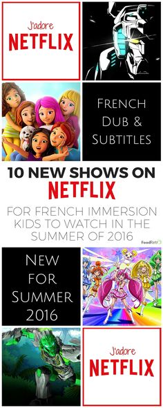 10 New French Dubbed & French Subtitled Shows on Netflix for Kids Study French, Core French, Learning French For Kids, Teaching French, Learning Spanish, Learning Italian, Learning Cards, Ways Of Learning, How To Speak French