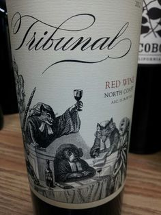 Love the animal graphic on this wine label