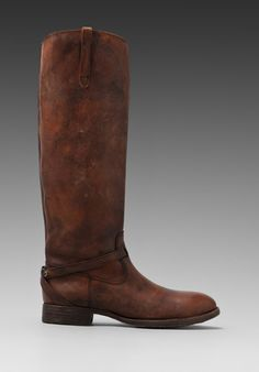 FRYE Lindsay Plate Boot in Cognac - Riding