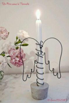 Wire Craft Angel Wings / Candle Holder