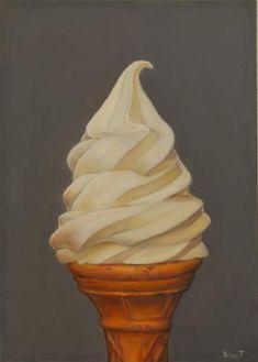 "Daily Paintworks - ""Vanilla Cone"" - Original Fine Art for Sale - © Kim Testone - SOLD"