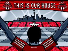 Toronto FC. Futbol Artist Network art series done in collaboration with Major League Soccer.  Art by Liam Dickinson of Manchester, UK.  Art can be purchased at www.futbolartistnetwork.com