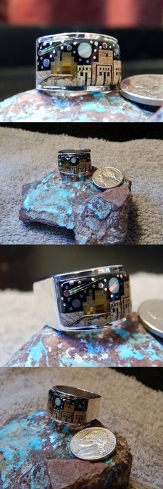 Rings 98500: Mens Sterling Silver Night Sky Mirco Inlay Ring Navajo Fred Begay Size 10 1 2 -> BUY IT NOW ONLY: $399.77 on eBay!