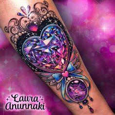 Badass Tattoos, Sexy Tattoos, Body Art Tattoos, Small Tattoos, Sleeve Tattoos, Tattoos For Women, Gem Tattoo, Jewel Tattoo, Lace Tattoo