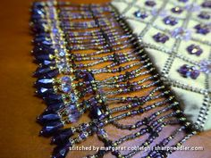 Beaded fringe on 'Rare Vintage' bead embroidered purse (Inspirations #47).