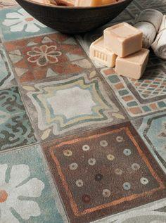 Baldosa hidráulica Ecological porcelain stoneware wall/floor #tiles DECORI by Panaria Ceramica   #design Silvia Stanzani @Ceramica Panaria http://www.edilportale.com/prodotti/panaria-ceramica/pavimento-ecologico-in-gres-porcellanato/memory-mood_142521.html                                                                                                                                                     Más