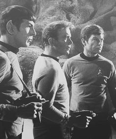 Spock, Kirk and McCoy.