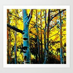 Colorado Aspen 2 Art Print by Brent Jones Art. Worldwide shipping available at Society6.com. Just one of millions of high quality products available.