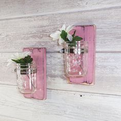 Sale Cottage Chic Wall Flower Vases-Farm by CountryLivingAtHeart