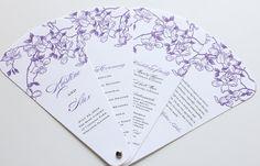 Wedding Program Petal Fans by blushpaperie on Etsy, $81.25
