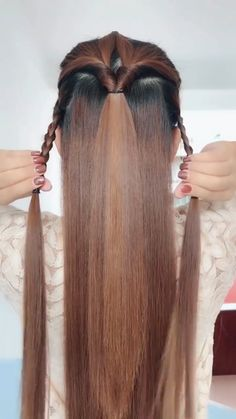 Frisur ideen Dry and style your hair at once with.➔➔CLICK THE LINK Kitchen Remodeling Bathroom Rem Girl Hairstyles, Braided Hairstyles, Easy Hairstyles For Thick Hair, Elven Hairstyles, Simple Hairdos, Renaissance Hairstyles, Hairstyles Videos, Fashion Hairstyles, Layered Hairstyles