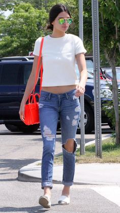 In love with her style #jeans