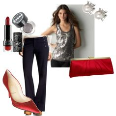 Going out (red, navy and grey).