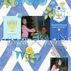 Gorgeous new Hanukkah Digital Scrapbooking Kit!!!   Clever Monkey Graphics