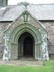 The doorway of St. Nicholas Church, Nicholaston