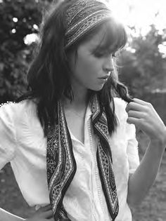 Felicity Jones for InStyle UK March 2015 - Scarf hairstyles - Bohemian Hairstyles, Scarf Hairstyles, Vintage Hairstyles, Summer Hairstyles, Trendy Hairstyles, Hairstyle Ideas, Bandana Hairstyles For Long Hair, Braided Bun Hairstyles, Romantic Hairstyles