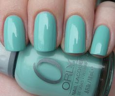 { owned } Orly Gumdrop (Sweet Collection 2010) | via AllYouDesire. Lovely minty turquoise/green.