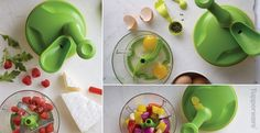 Tupperware | Chop and mix salads, salsas, and more with the Quick Chef Pro. Buy in bulk, chop & freeze your onions, bell peppers ( all colors separately), even zucchini, freeze in the Tupperware Ice trays into small cubes, then add them to recipes as needed.