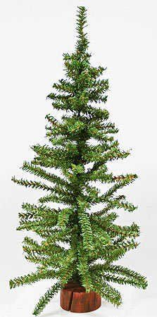 24 Artificial Pine Christmas Tree On Wood Base Unknown Http Www