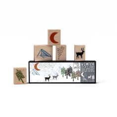 Winter Stamp Set | Izola  perfect for christmas cards, gift tags, etc ... super cute