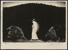 John Bauer - Lithograph 5 (1915) by Aeron Alfrey, via Flickr